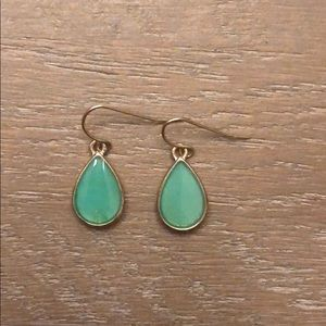 Never worn tear drop shaped earrings